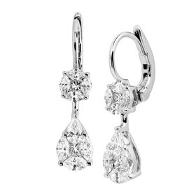 1 ct Diamond Drop Earrings