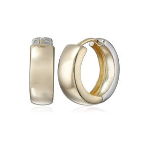 Two-Tone Huggie Hoop Earrings