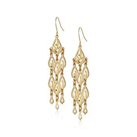 Diamond-Cut Chandelier Drop Earrings