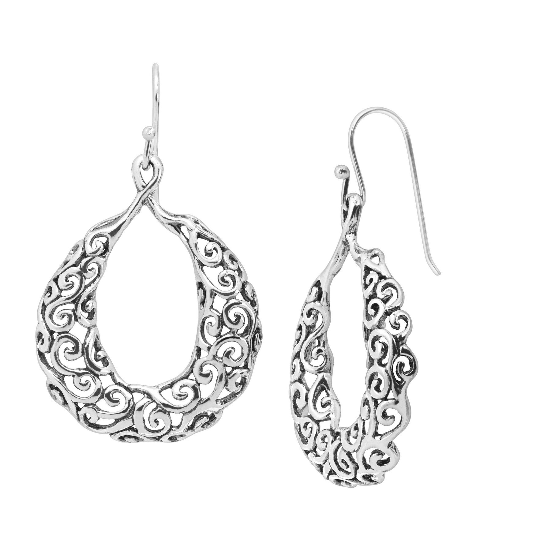 filigree silver gold in jewelry plated sterling earrings flower