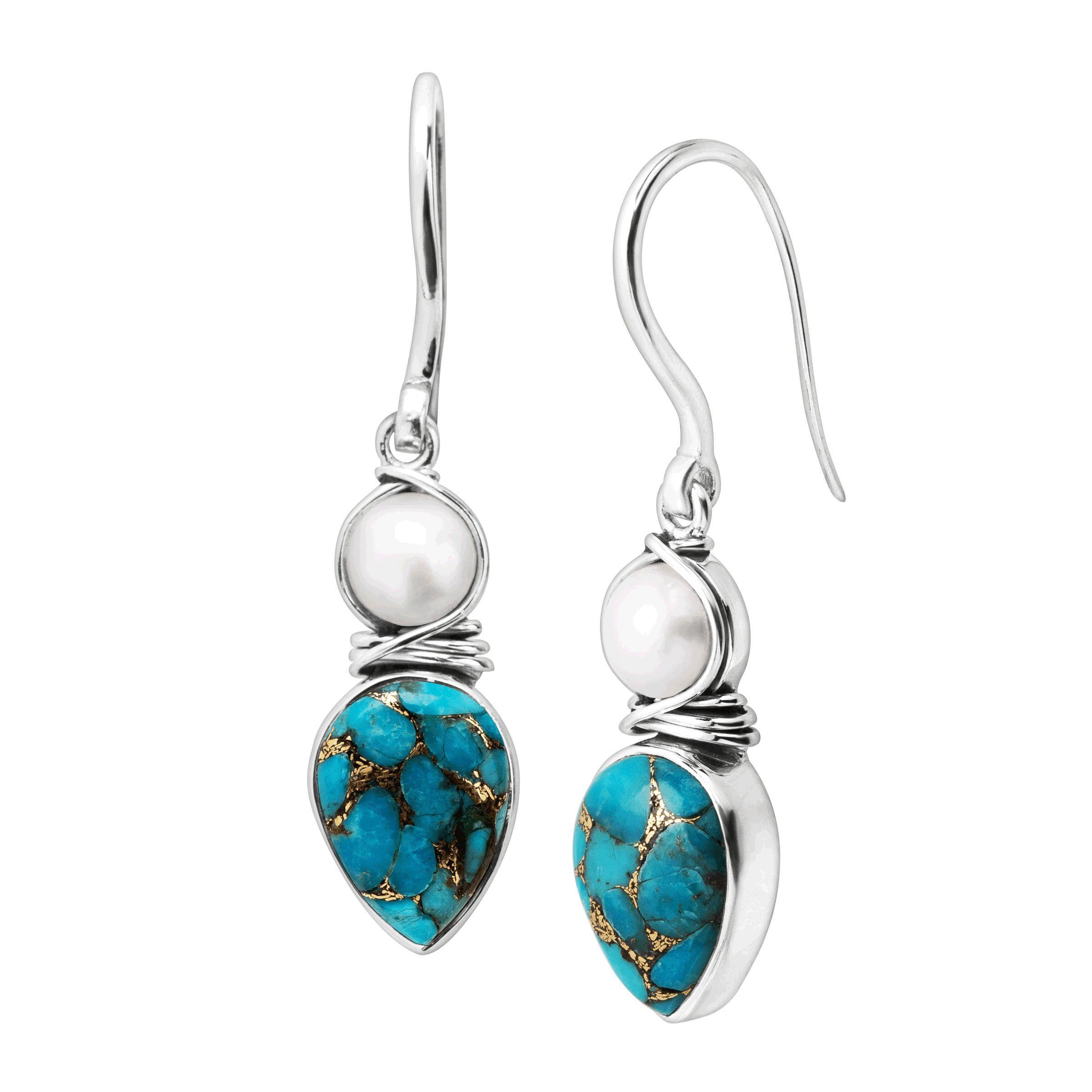 176b4f2577c Silpada  True Colors  Compressed Turquoise and Quartzite Drop ...