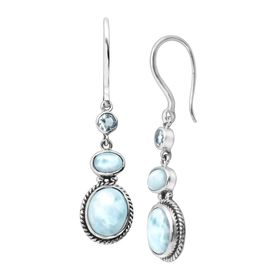 Blue Blazes Earrings