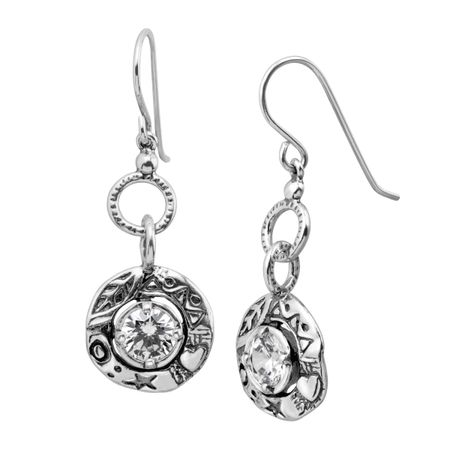 489707291 Silpada 'Charmed In Carlsbad' Drop Earrings with Cubic Zirconia in ...