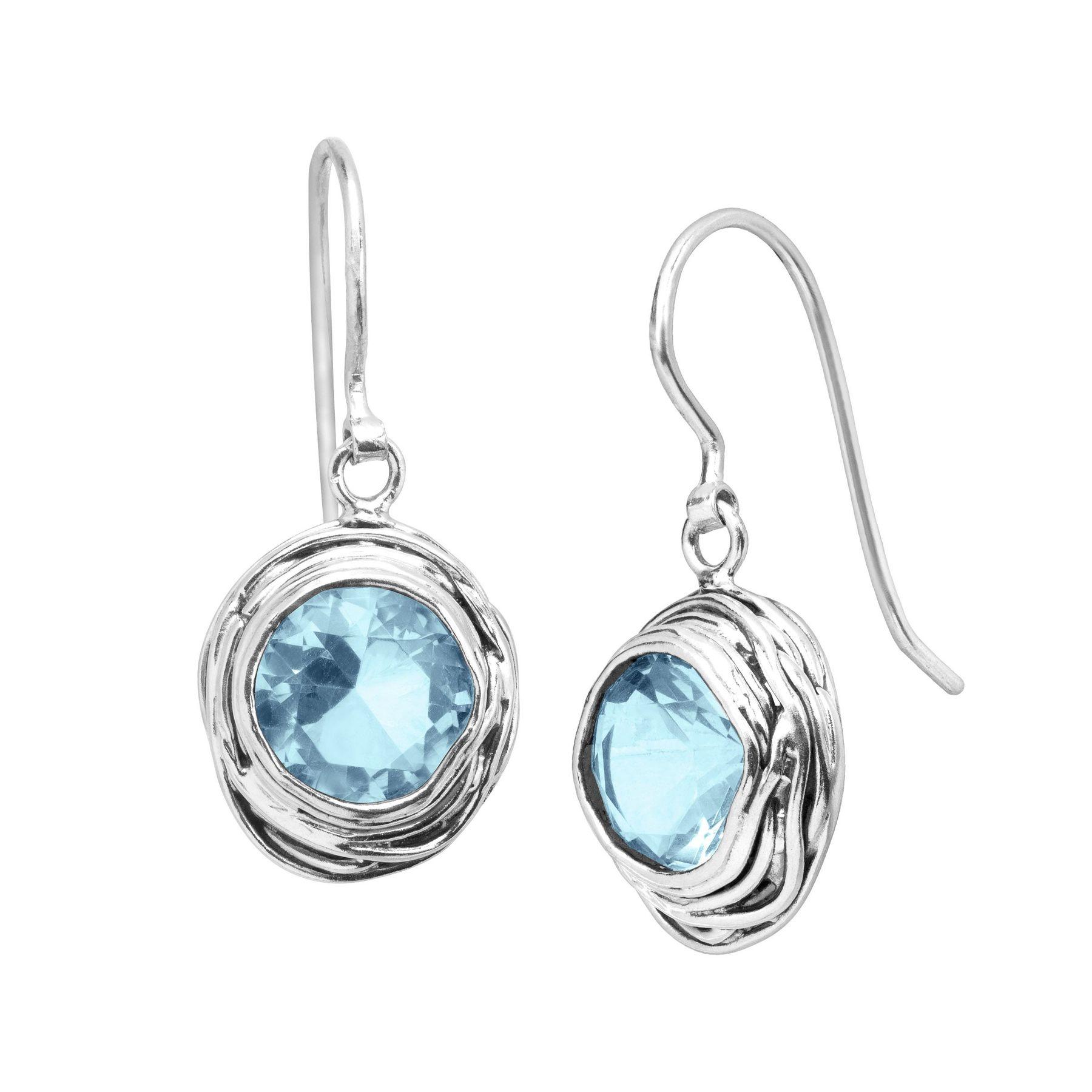 Silpada  Hooked On Blue  8 ct Blue Cubic Zirconia Drop Earrings in ... 5a57b7c6bd