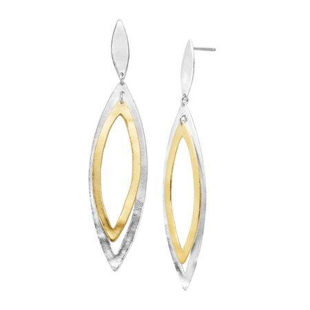Gold School Drop Earrings