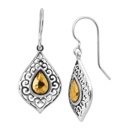 82c1856eb Silpada 'Airglow' Teardrop Earrings in Sterling Silver & Gold Plate ...