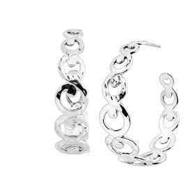 Turtle Roll Hoop Earrings