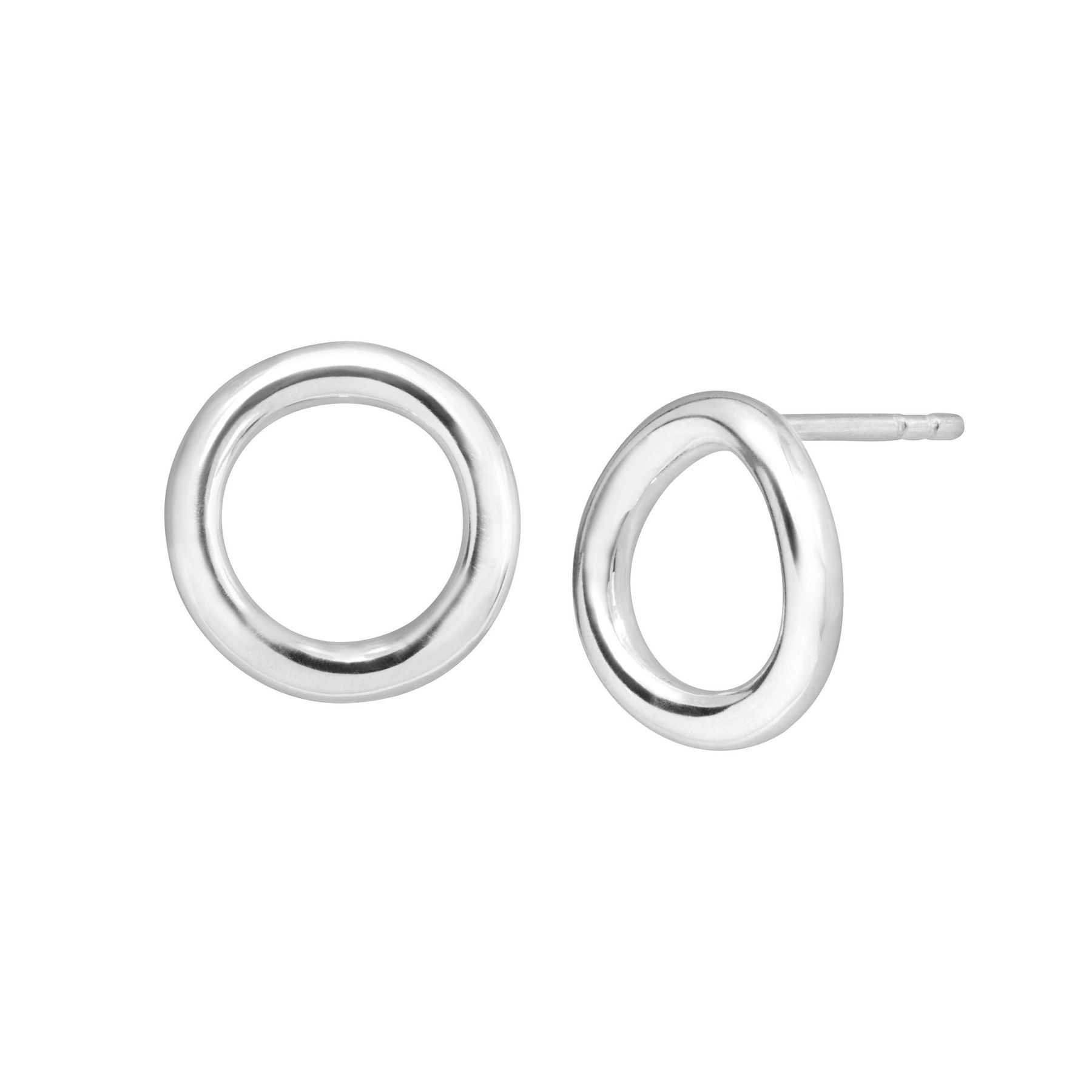 Zx87 Charismatic /& Sleek Gold Wired Detail /& Round Gold Hoop Earring.