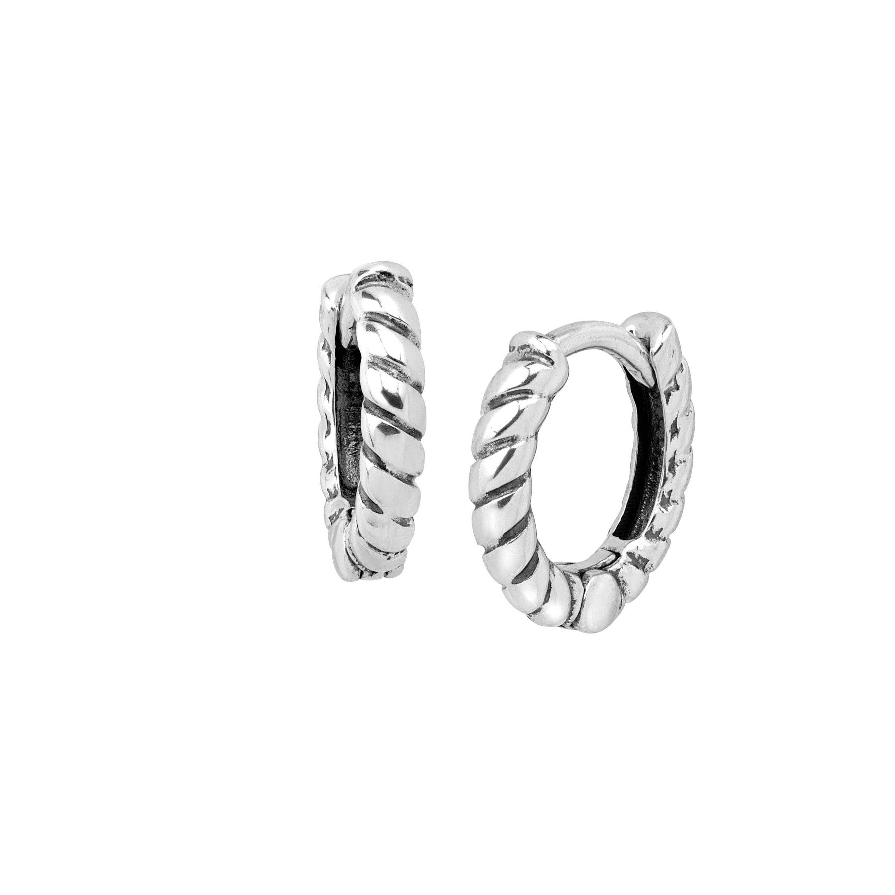 Ss Bead//Texture Twist Hoop Earring Hoop Earrings
