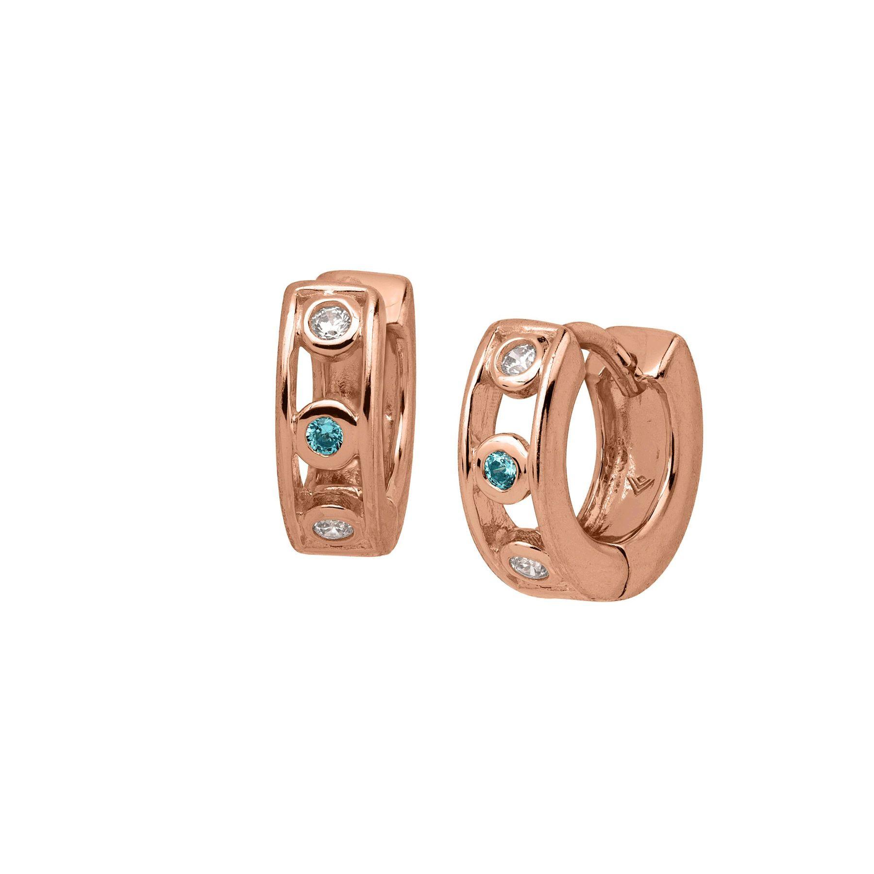 f1b088154 Silpada 'Soleil' Studded Huggie Hoop Earrings with Cubic Zirconia in 18K  Rose Gold-Plated Sterling Silver | Soleil Studded Huggie Hoops | Silpada