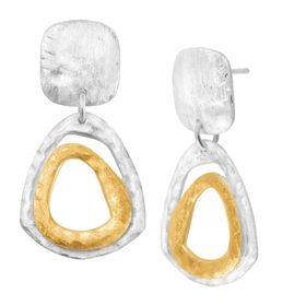 Gabardine Drop Earrings