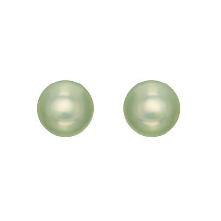 5.5-6 mm Light Green Pearl Stud Earrings
