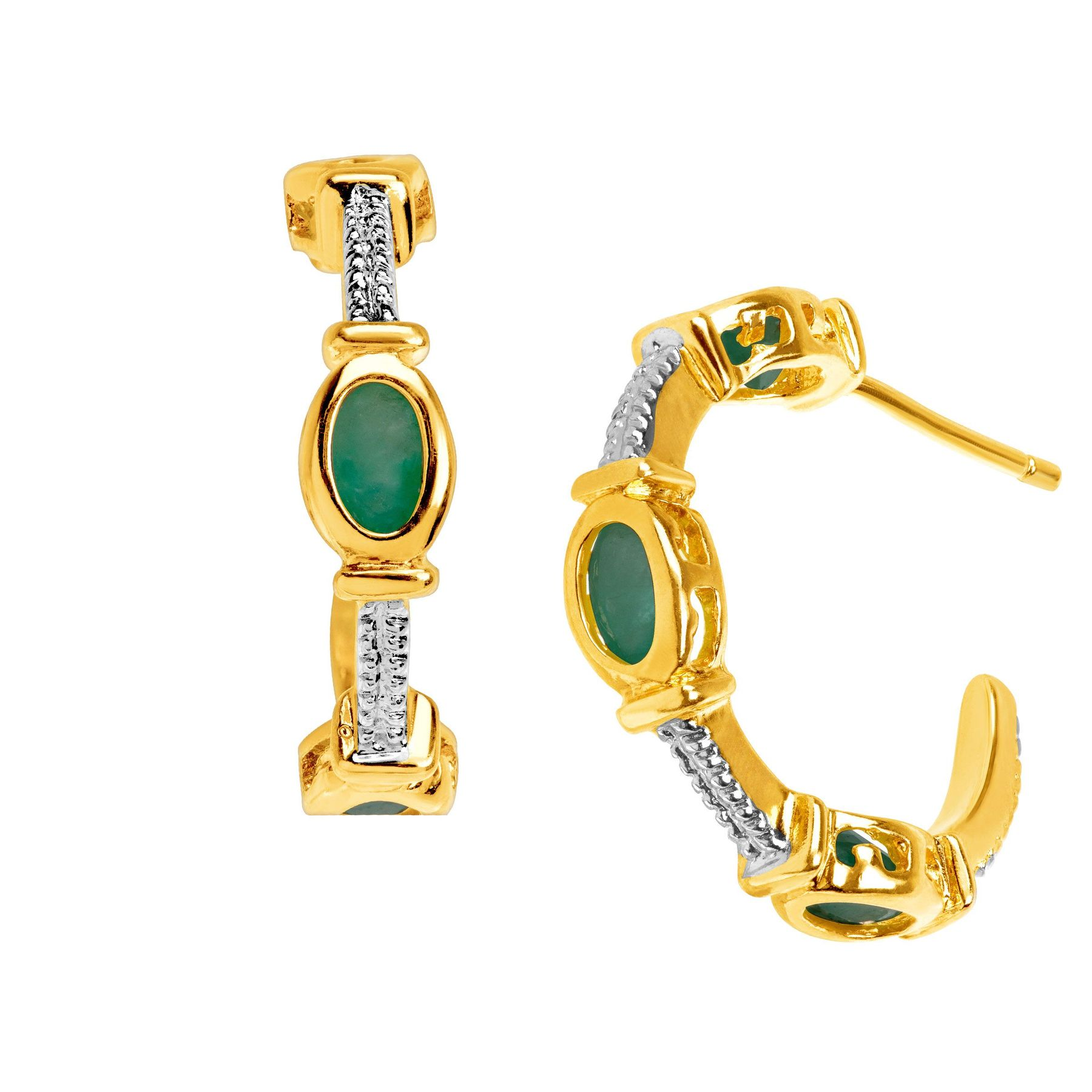 emerald ruby jewelry is itm antique gold snake ops earrings image loading natural stud yellow