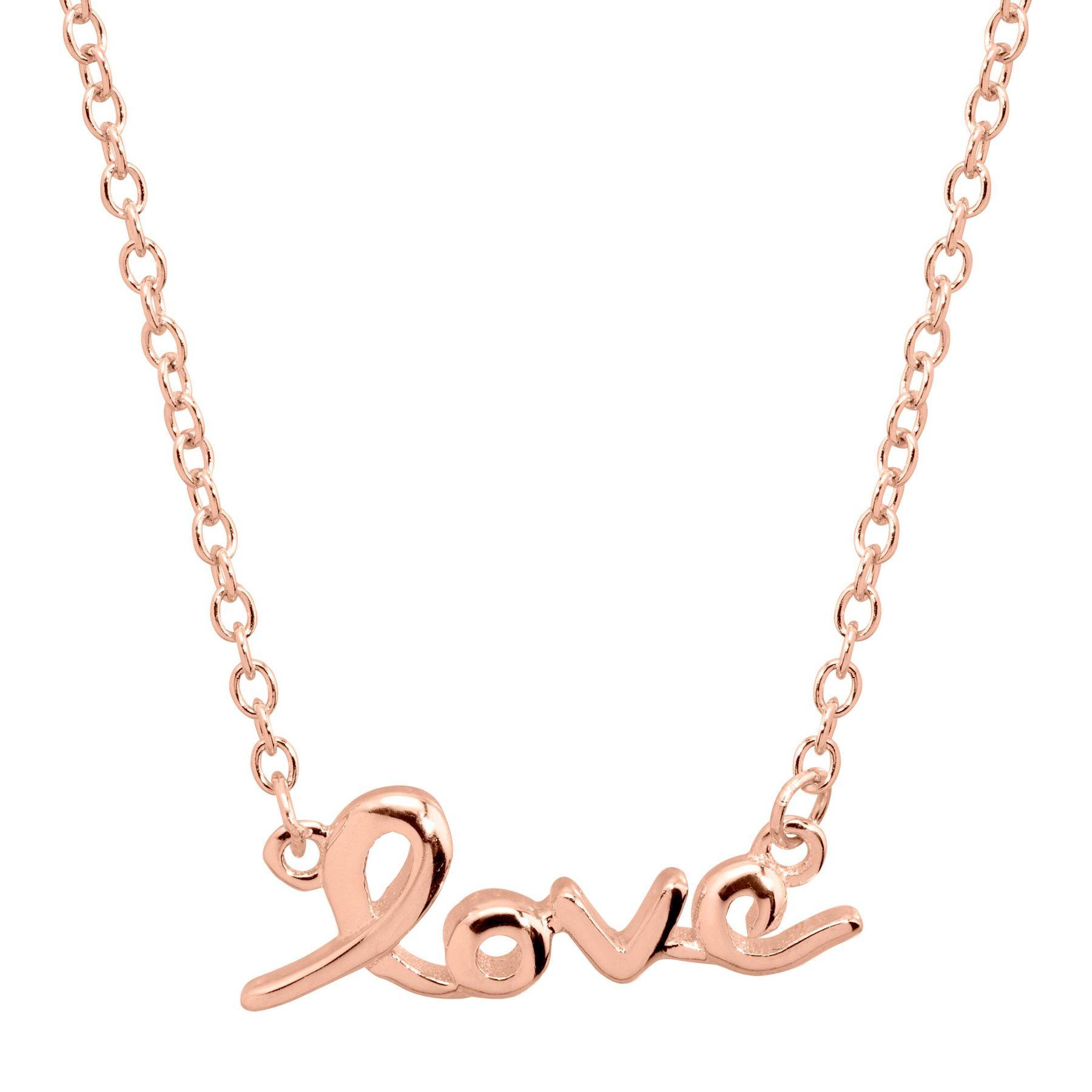 Finecraft 'Love' Script Necklace