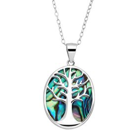 Tree of Love Abalone Cutout Pendant