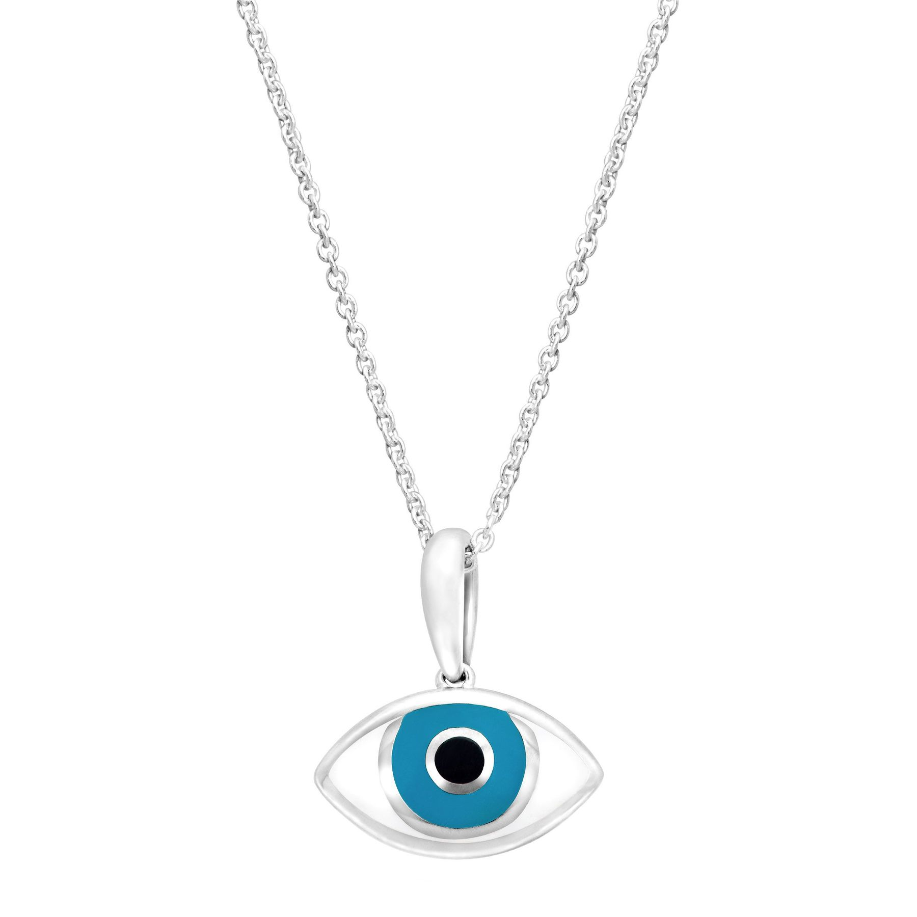 cubic necklaces zirconia jewellery eye simply zoom necklace silver sterling pendant