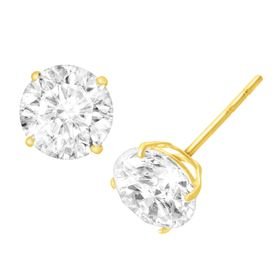 3 ct Cubic Zirconia Stud Earrings