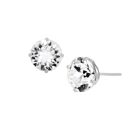 7 mm Stud Earrings with Swarovski Crystals