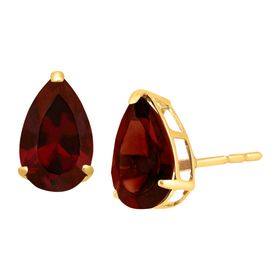 2 ct Pear-Cut Garnet Stud Earrings