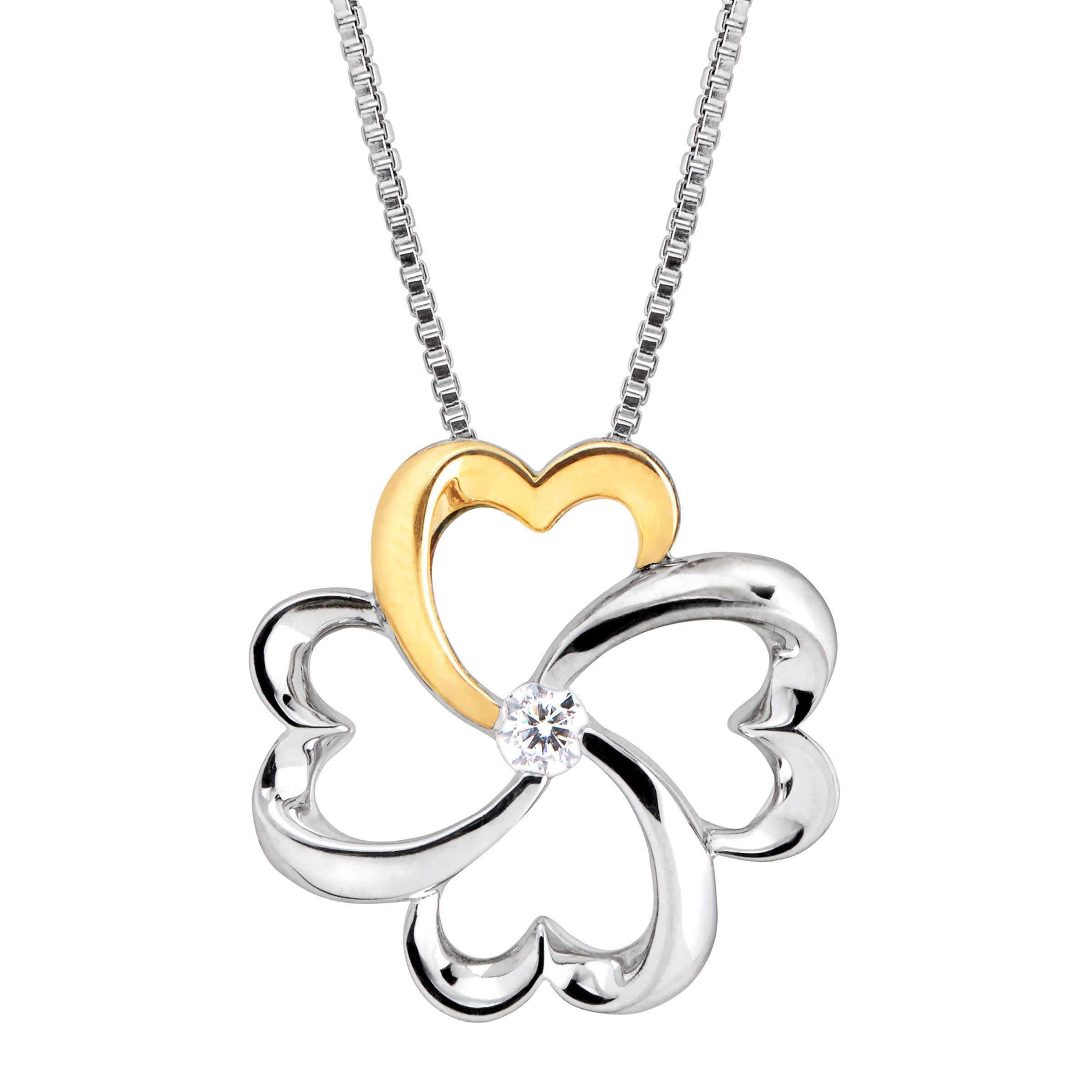 r leaf m products resistant four pendant rhodium plated clover necklace tarnish