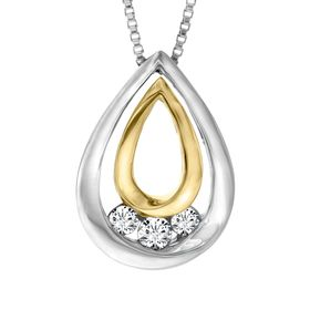 1/5 ct Diamond Teardrop Pendant