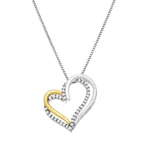 1/4 ct Diamond Open Heart Pendant