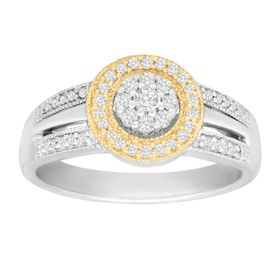 1/3 ct Diamond Cluster Ring