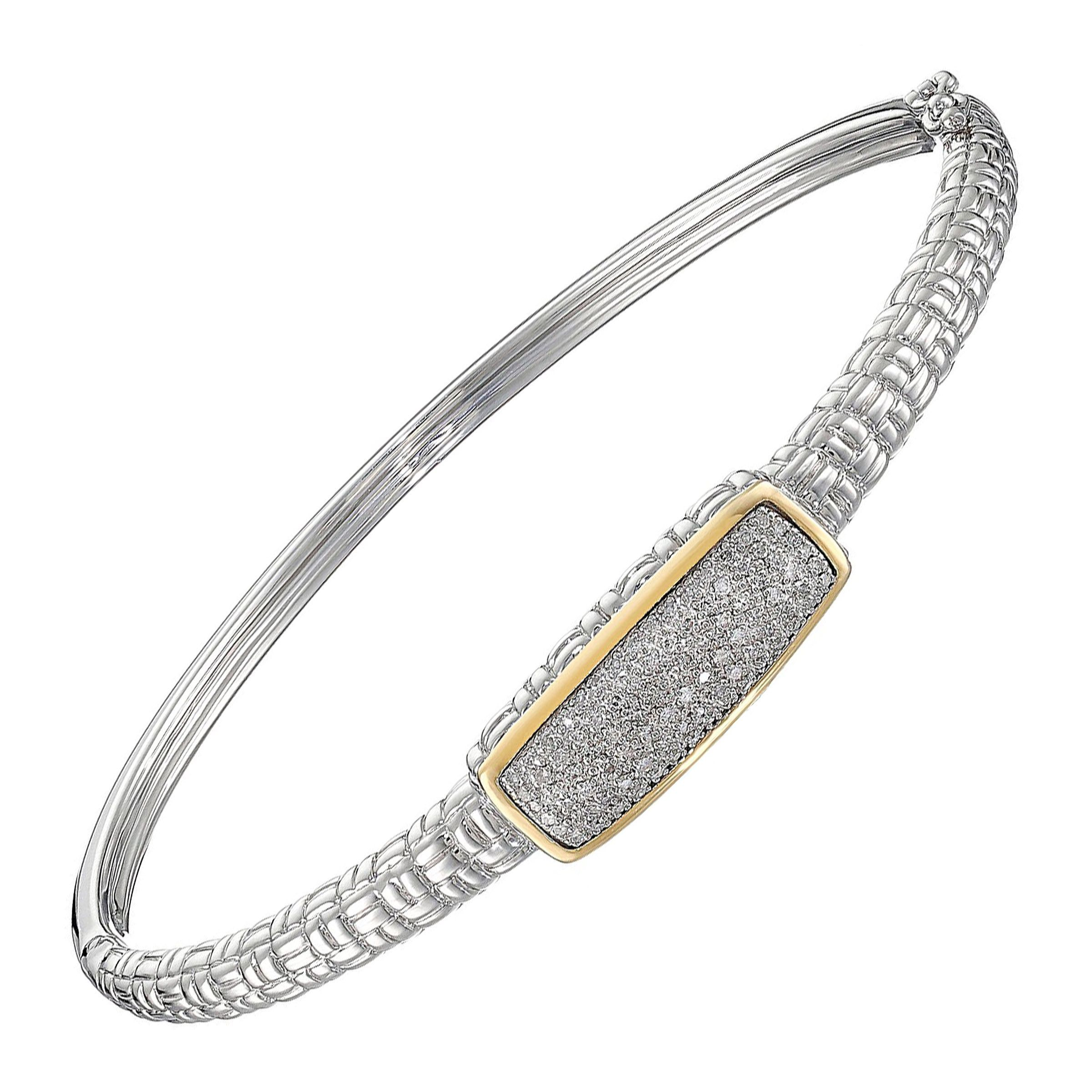 rope diamond solid gold bracelet p cut yellow