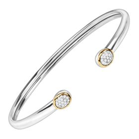 1/5 ct Diamond Circle Cuff Bracelet