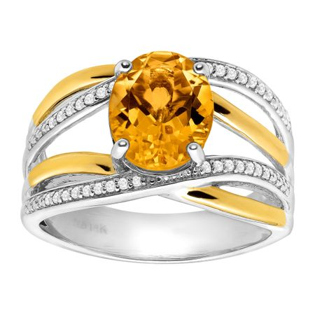 round yellow ring gemstone gold diamond halo citrine rings