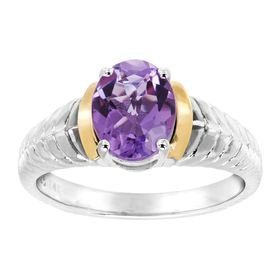 1 5/8 ct Amethyst Braid Ring