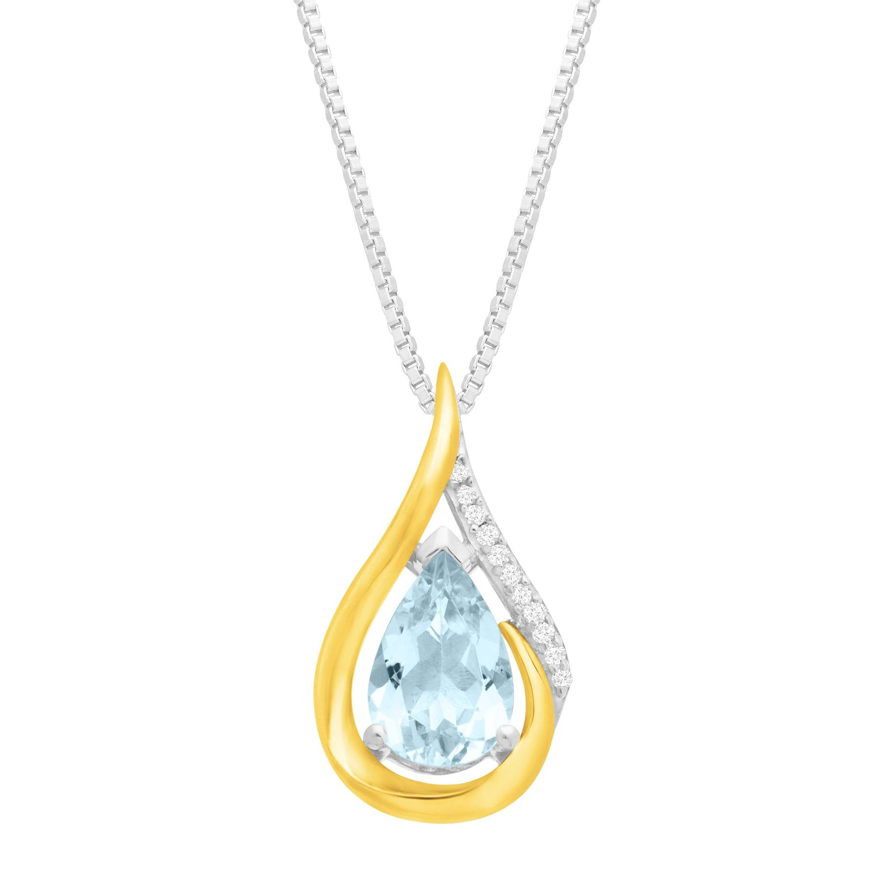 chain cut gold fine vintage yellow aquamarine emerald with in img pendant