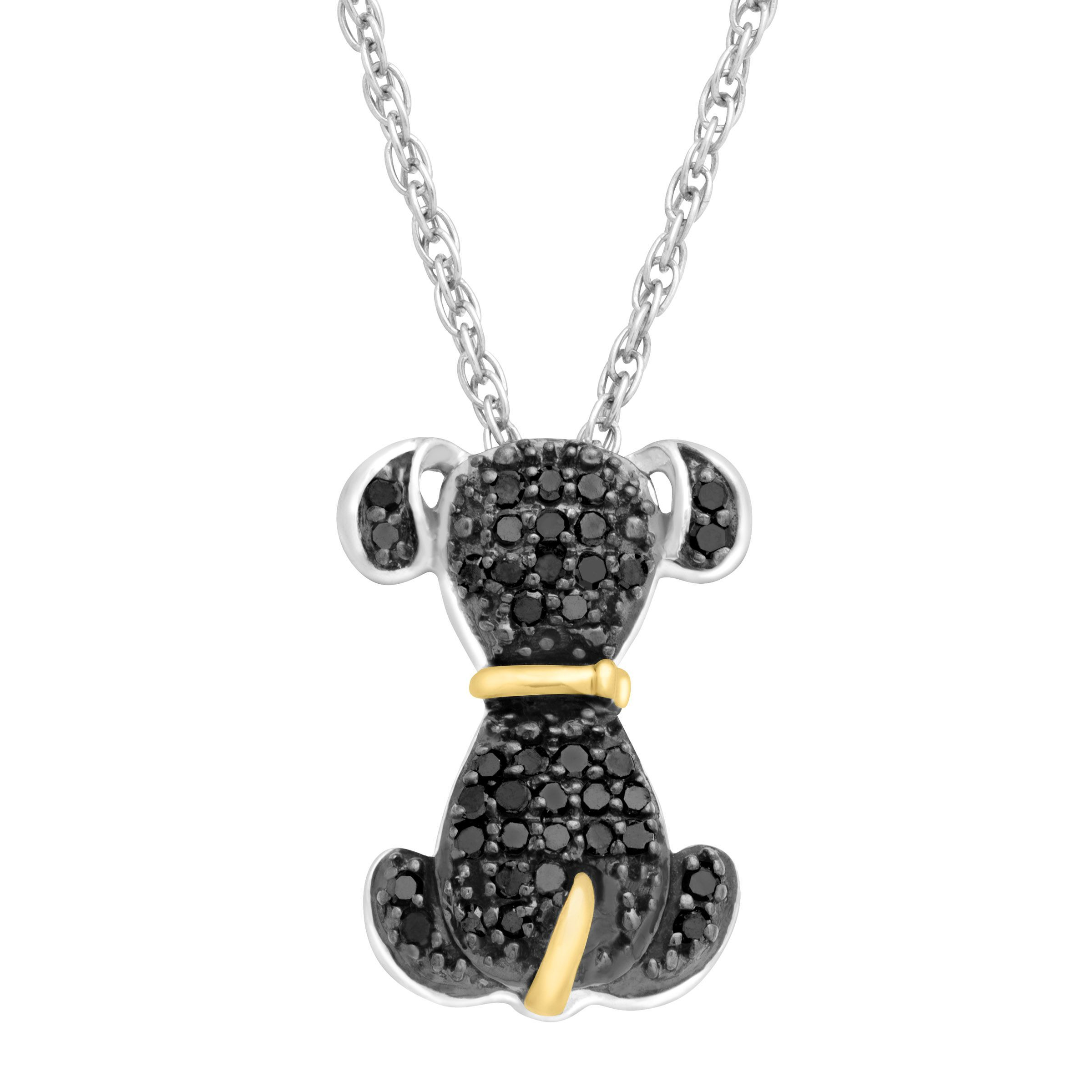 15 ct black diamond dog pendant in sterling silver 14k gold 15 ct black diamond dog pendant in sterling silver 14k gold aloadofball Choice Image