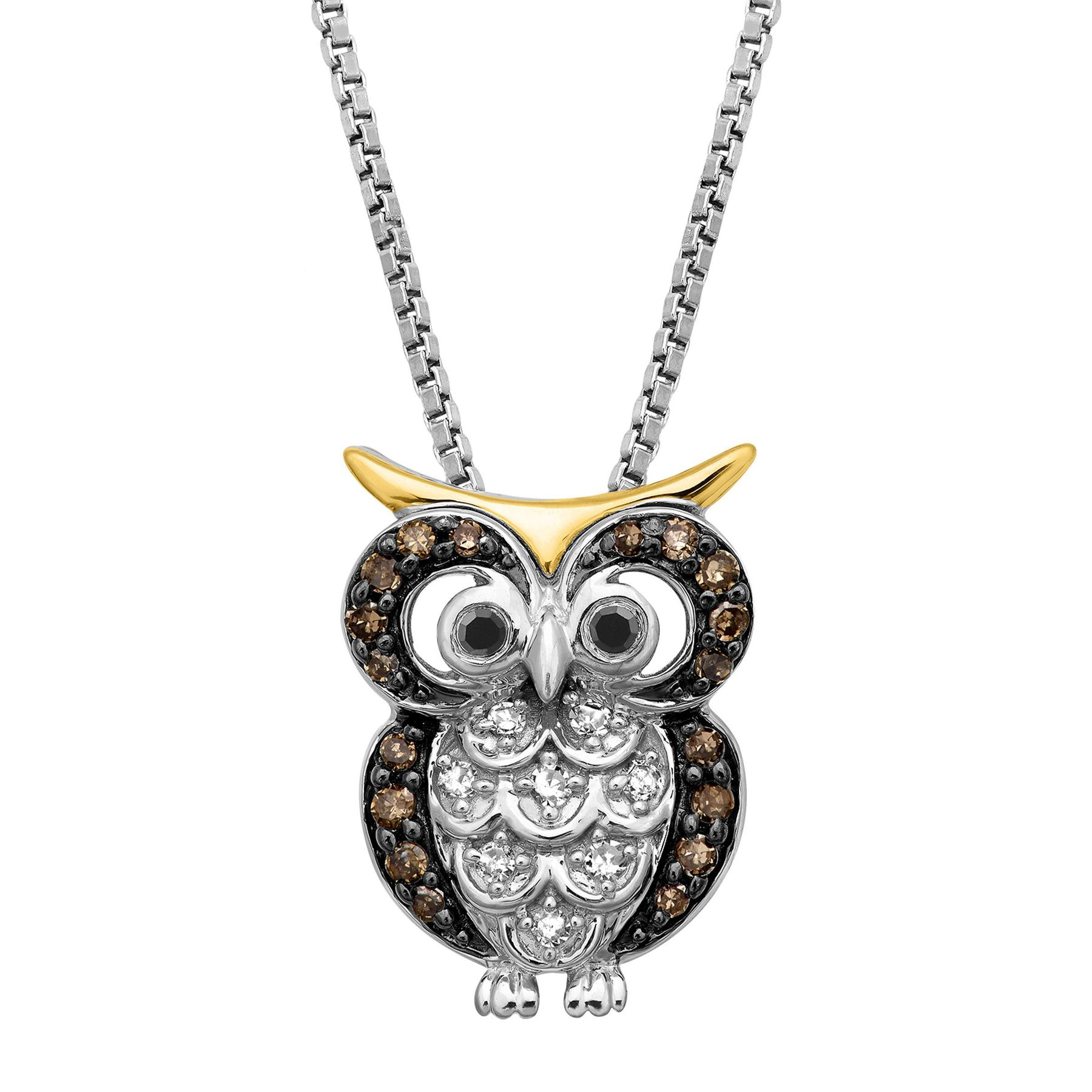 black img beaded necklace thad owl pendant design product