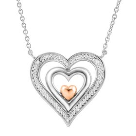 Spinner Heart Pendant with Diamonds