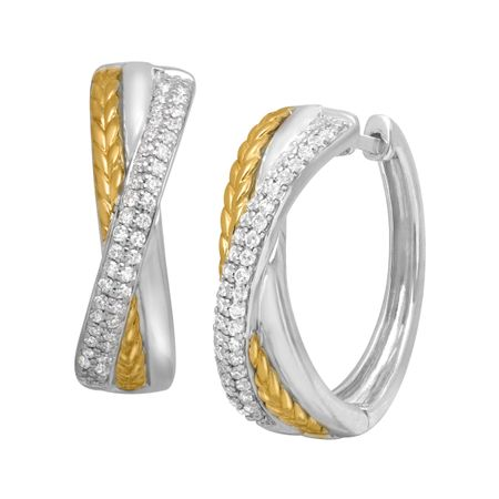 1/3 ct Diamond Hoop Earrings