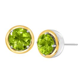 3 ct Peridot Stud Earrings