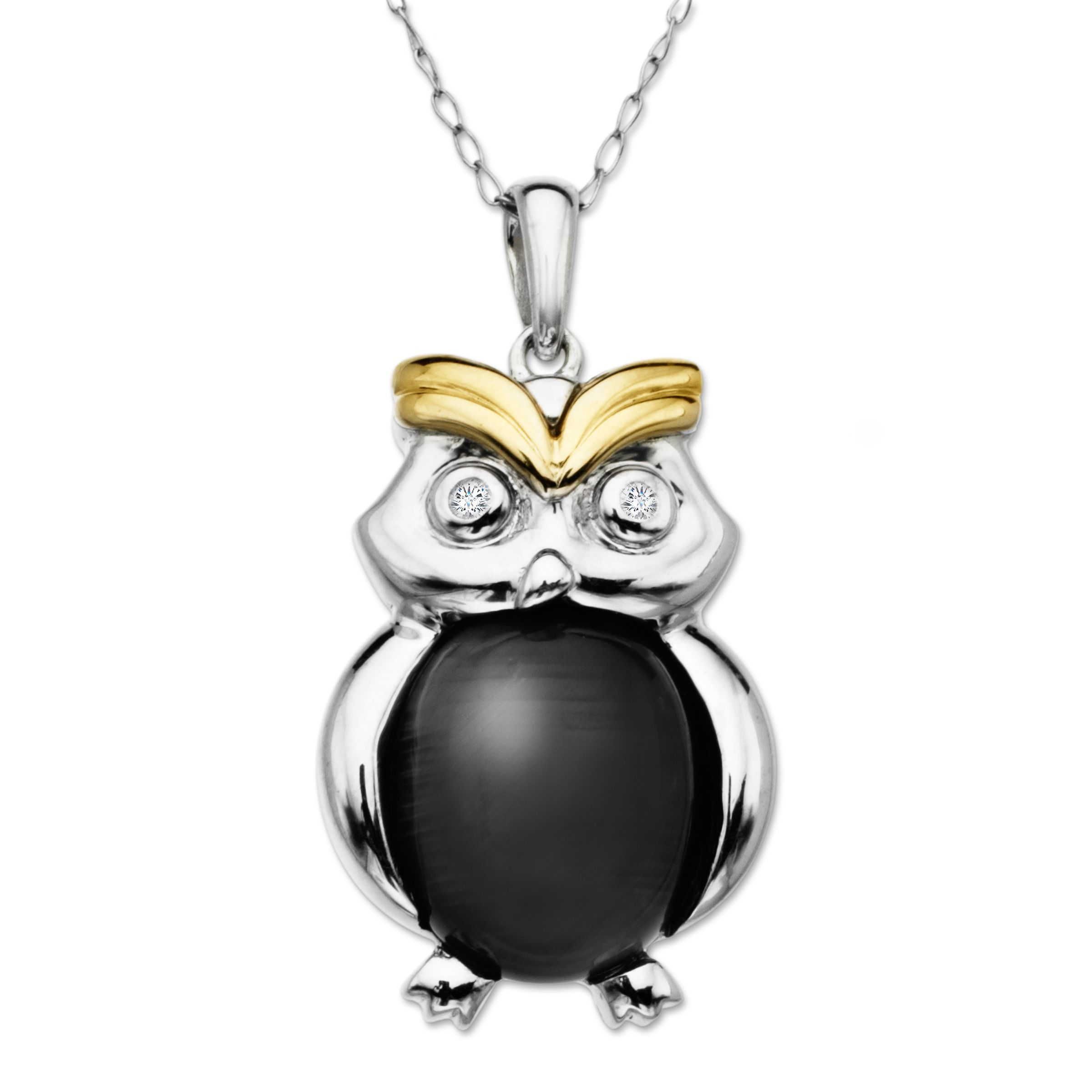 freshwater pearl p little jewelry beads with inches moon necklace color gold product laurel pendant owl