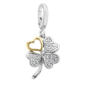 1/10 ct Diamond Four-Leaf Clover Charm