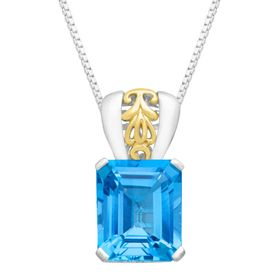 7 3/8 ct Baby Swiss Blue Topaz Pendant