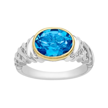 3 1/10 ct Swiss Blue Topaz Ring