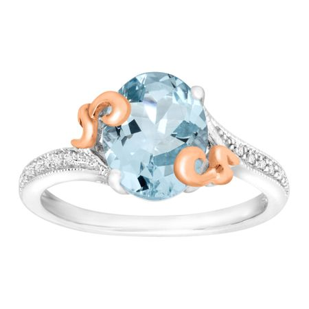 2 1/5 ct Aquamarine Ring with Diamonds