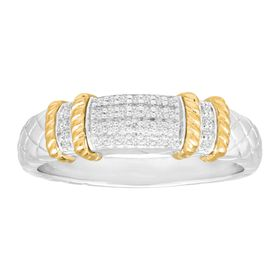 1/10 ct Diamond Cable Band Ring
