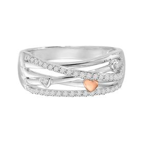 1/5 ct Diamond Crisscross Ring