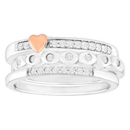 1/5 ct Diamond Stackable Rings
