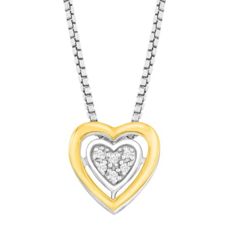 Petite Heart Pendant with Diamonds