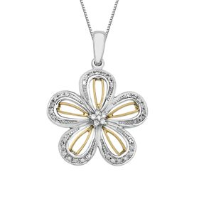 1/8 ct Diamond Flower Pendant