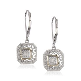 1/10 ct Diamond Two-Tone Filigree Earrings