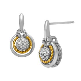 1/5 ct Diamond Drop Earrings