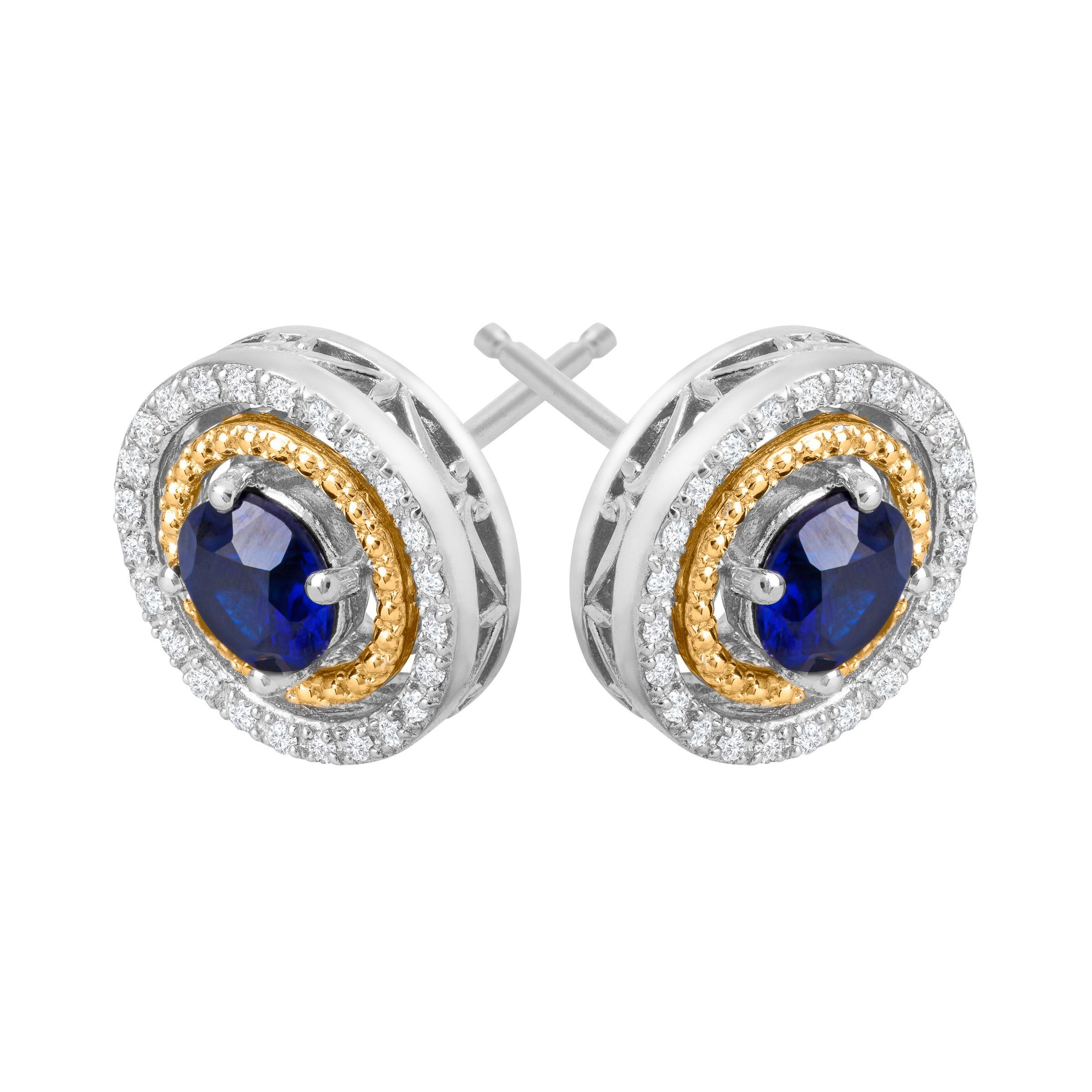 butter cabochon sugarloaf antiques products stud deco diamond earrings art sapphire lane